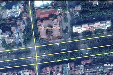 Ngôi nhà 300 Kim Mã trên ảnh vệ tinh