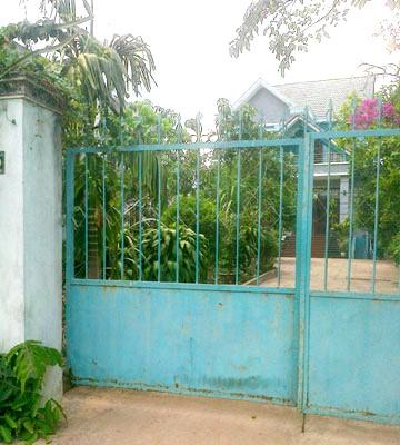 Căn nhà của vợ chồng ông Trần Đình Chiến, nơi bị cướp đột nhập lấy 186 lượng vàng