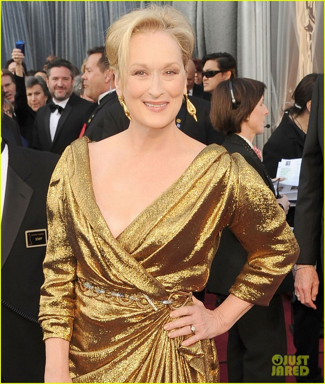 Dàn sao 'bự' đổ bộ thảm đỏ Oscar 2012 - ảnh 19