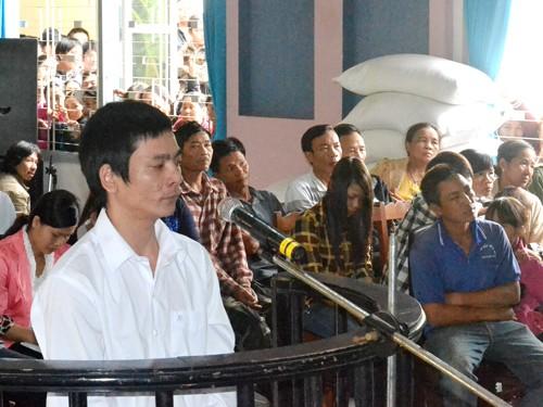 Bị cáo Tuấn tại phiên tòa