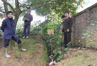 Quả bom bi còn lại bên tường rào trường THCS Tiên Phong được lực lượng chức năng phong tỏa, tiêu hủy