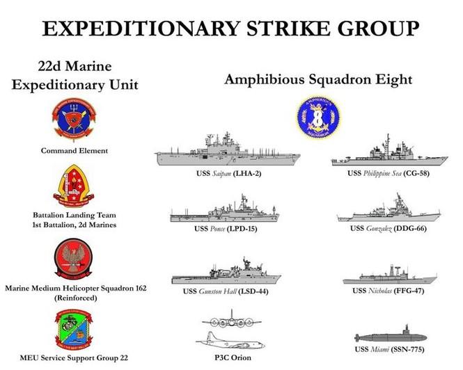 Biên chế lực lượng Liên đoàn viễn chinh hỗn hợp tấn công ESG