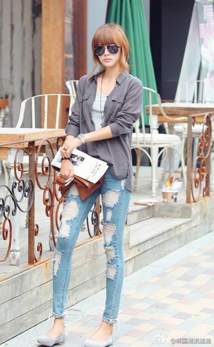 Cuối tuần xuống phố cực chất với quần jeans - ảnh 20