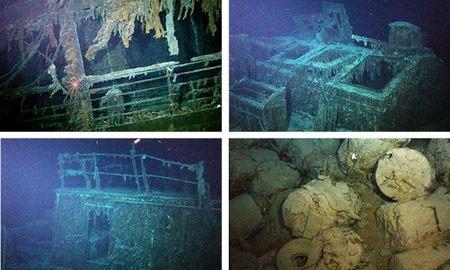 Các bức ảnh chụp được từ xác tàu Mantola