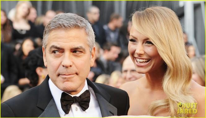 Tài tử George Clooney và bạn gái Stacy Keibler