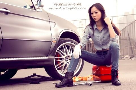 Người mẫu sexy bên xế hộp BMW - ảnh 5