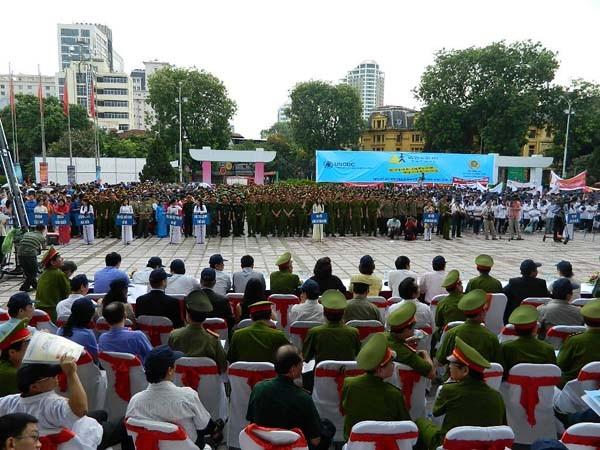 Lễ ra quân phòng, chống ma túy với 5.000 nghìn tham gia