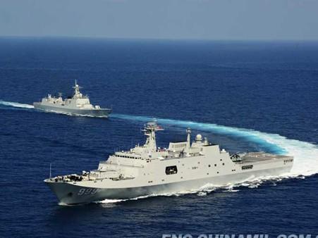 Tàu chiến Trung Quốc 'diễu võ dương oai' ở Trường Sa - ảnh 4
