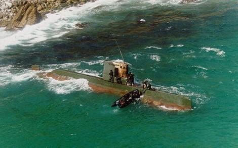 Tàu ngầm Sang-O của Triều Tiên bị mắc cạn năm 1996