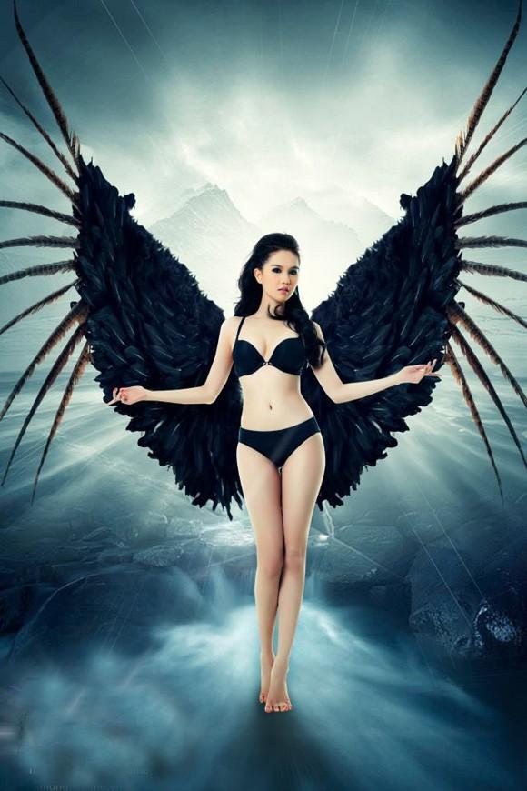 Ngọc Trinh 'mọc cánh' thiên thần và ác quỷ - ảnh 3