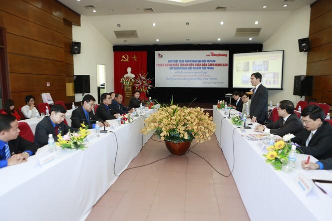 Đoàn TN NDCM Lào thăm, làm việc với Báo Tiền Phong - ảnh 8