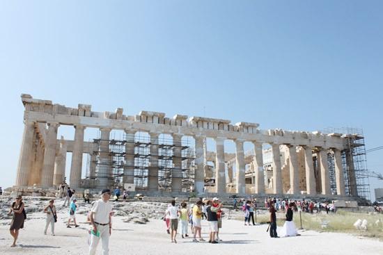 Đền thờ Partheon, nơi tập trung rất đông du khách mỗi ngày