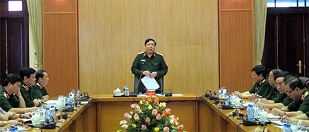 Bộ trưởng Phùng Quang Thanh kết luận cuộc họp