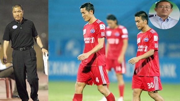 Thày trò HLV Cho Yoon-Hwan vẫn chưa thắng được trận nào mùa này - Ảnh: Đức Cường