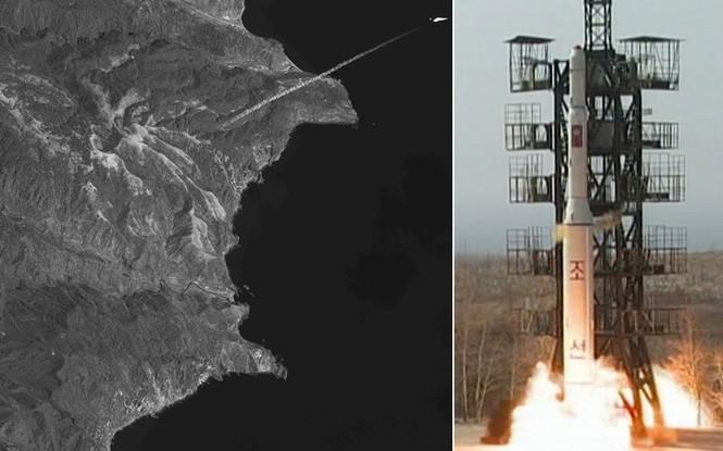 Hướng đi tên lửa mà Triều Tiên đã phóng trước đó.