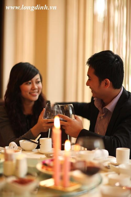 Không gian lãng mạn nhà hàng Long Đình