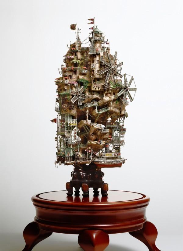 Những lâu đài 'khủng' trên cây bonsai - ảnh 5
