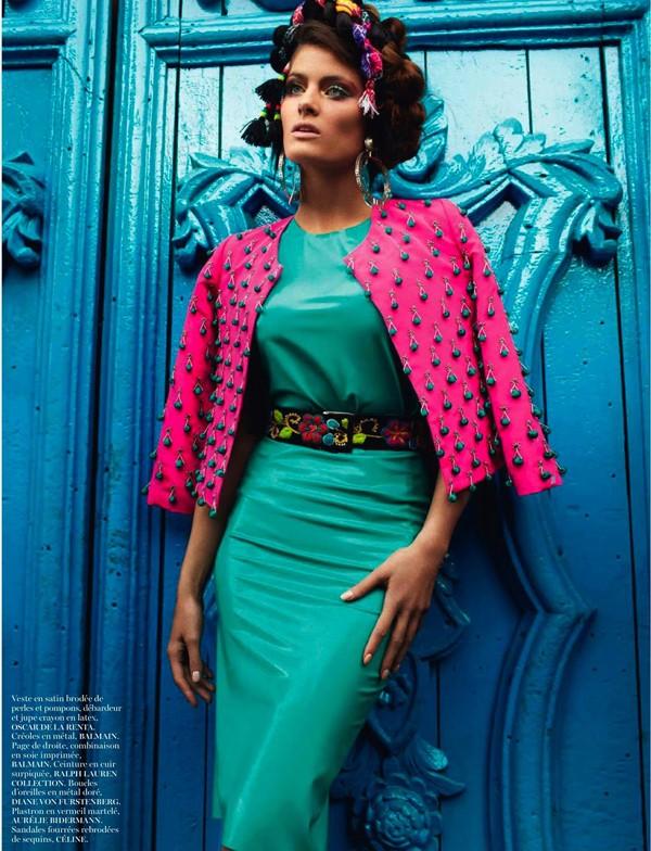 Bộ đôi siêu mẫu nóng bỏng trên Vogue Pháp - ảnh 11