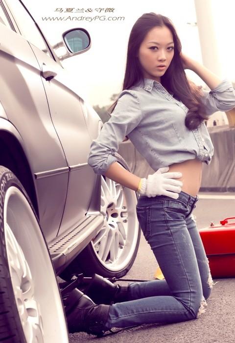 Người mẫu sexy bên xế hộp BMW - ảnh 7