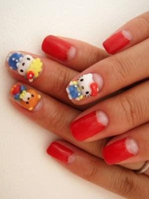 Ngộ nghĩnh với nail 'Hello Kitty' - ảnh 10
