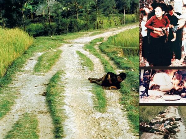 """Bức ảnh """"Hai đứa trẻ Mỹ Lai"""" (ảnh lớn); Loạt ảnh về cuộc thảm sát Mỹ Lai của Ronald Haeberle 43 năm trước"""