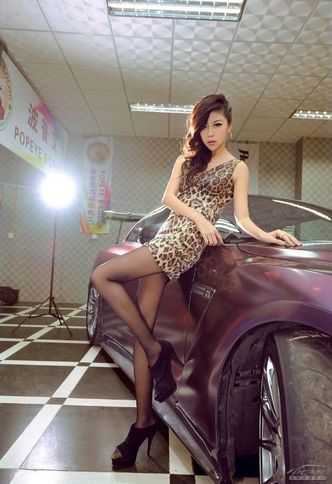'Báo gấm' tạo dáng bên Nissan GTR - ảnh 9
