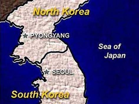 Bản đồ 2 miền Nam -Bắc Triều Tiên