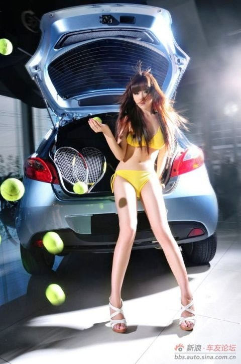 Thiếu nữ xinh đẹp bên Mazda - ảnh 9