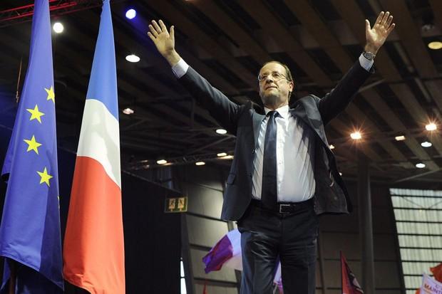 Nhà lãnh đạo Đảng Xã hội  Francois Hollande giành chiến thắng vòng một cuộc bầu cử tổng thống Pháp
