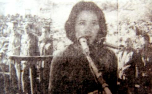 Bùi Thị Biết tại phiên tòa xét xử lưu động