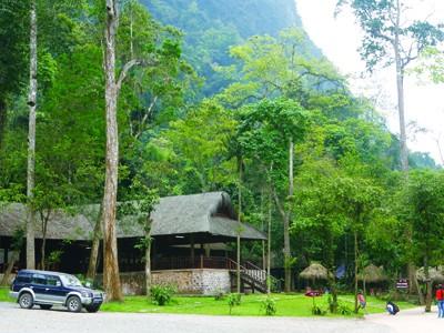 Đường vào động Thiên Đường nằm trong quần thể Vườn Quốc gia Phong Nha - Kẻ Bàng. Ảnh: hồng vĩnh