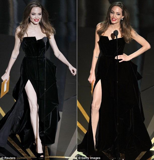 Fan tranh cãi về màn khoe chân của Jolie tại Oscar - ảnh 7