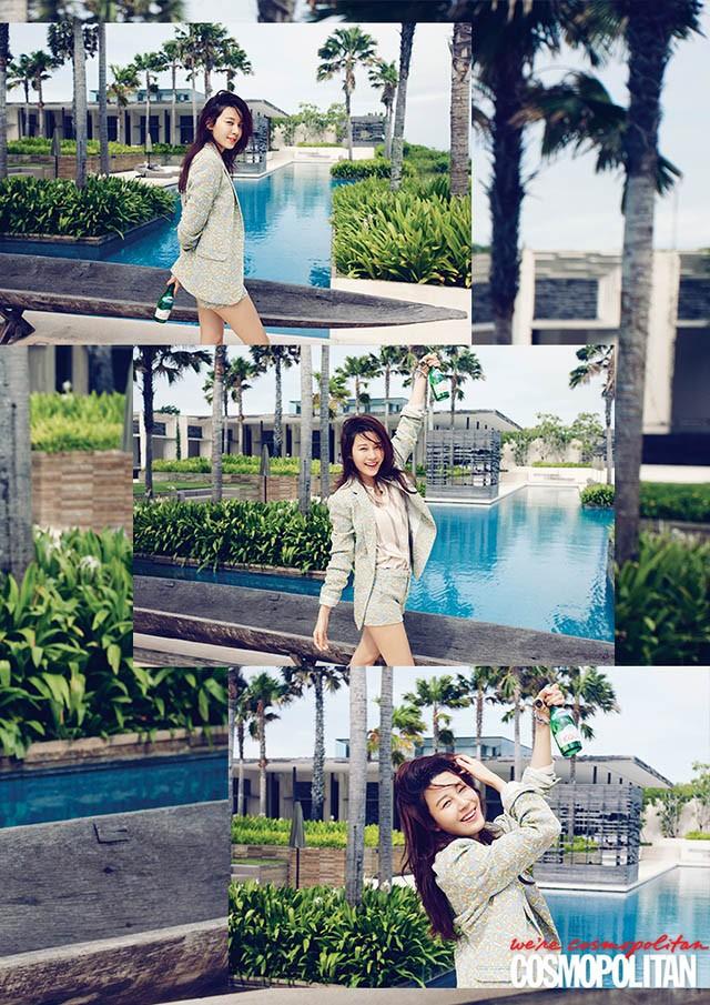 Kim Ha Neul rạng rỡ đón nắng hè tại Bali - ảnh 1
