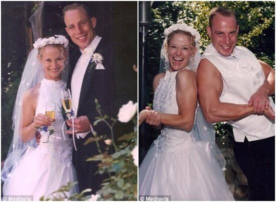 Susan và Evans lần đầu tổ chức đám cưới vào tháng 7 năm 1997