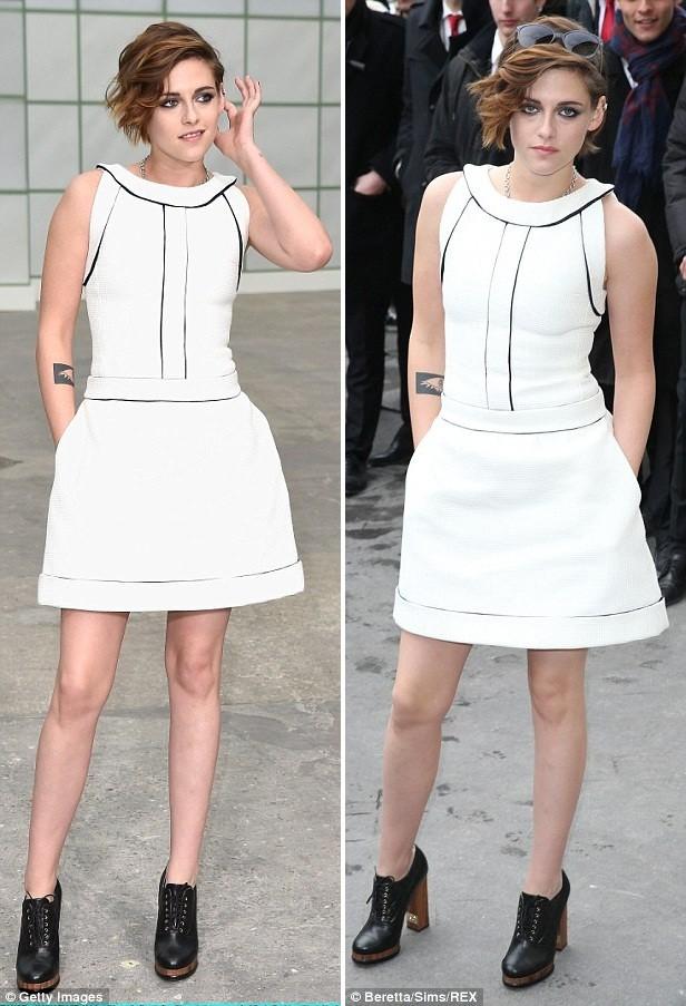 Kristen Stewart diện váy trắng muốt kiêu sa ở Paris - ảnh 5