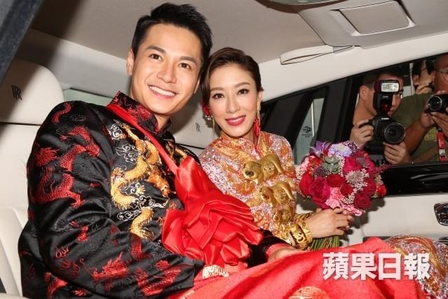 Hoa đán TVB Dương Di đeo vàng trĩu tay trong ngày cưới - ảnh 8