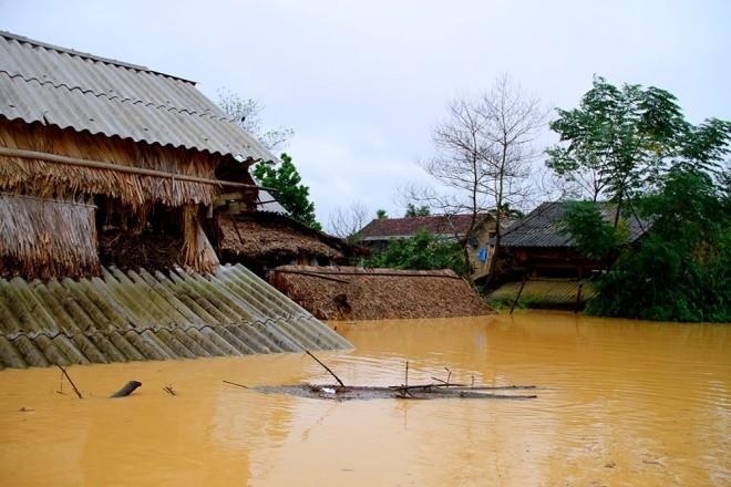 Nghìn người ở Hà Tĩnh chui mái nhà chờ nước rút - ảnh 1