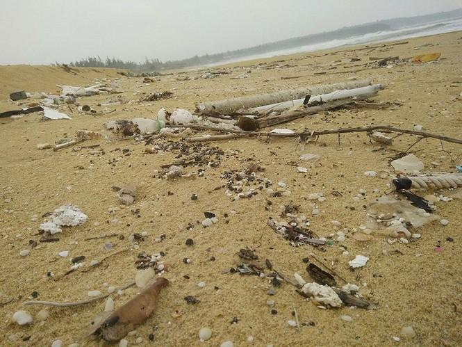 Xuất hiện dầu vón cục dọc 7 km bờ biển ở Quảng Nam - ảnh 2