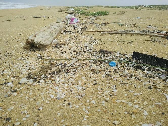 Xuất hiện dầu vón cục dọc 7 km bờ biển ở Quảng Nam - ảnh 3