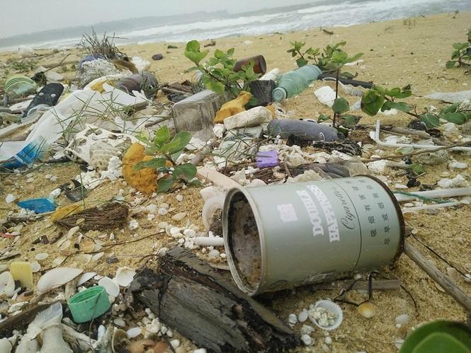 Xuất hiện dầu vón cục dọc 7 km bờ biển ở Quảng Nam - ảnh 4