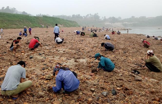 Sau tin đồn nhặt được đá quý, dân Phú Thọ đổ xô đãi cát thử vận may - ảnh 2