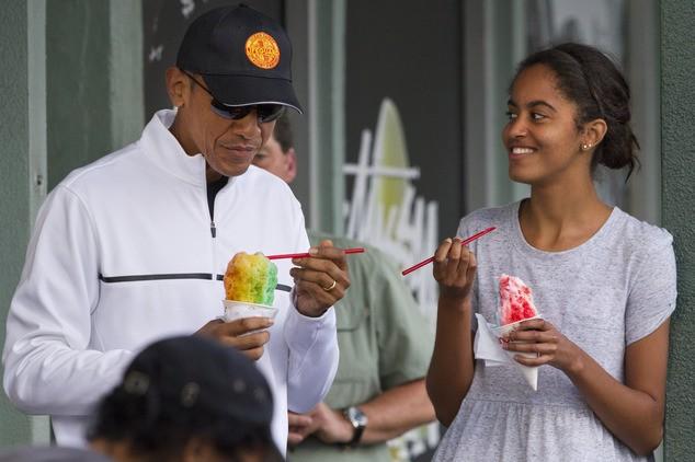 Gia đình Tổng thống Obama đón Năm mới như thế nào? - ảnh 1
