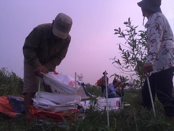 Người dân Nam Định dầm mưa gặt lúa chạy bão - ảnh 6