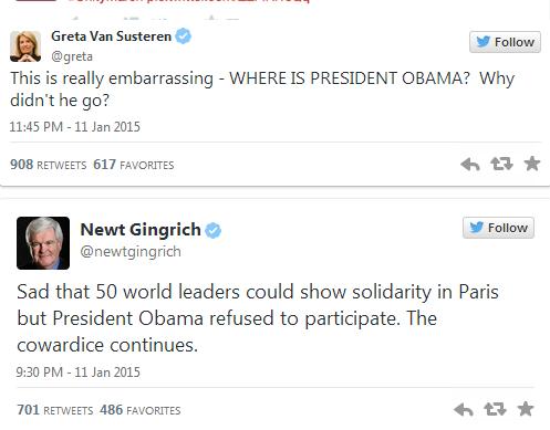 Ông Obama bị chỉ trích vì vắng mặt trong tuần hành tại Paris - ảnh 2