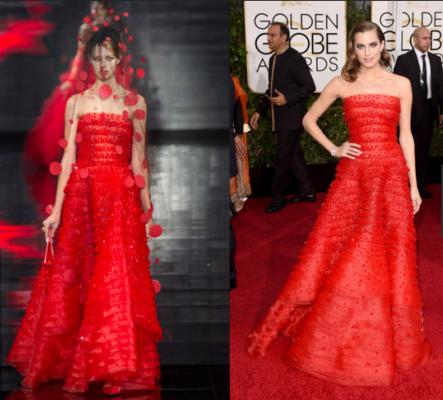 """Thời trang sàn catwalk """"lên ngôi' thảm đỏ Quả Cầu Vàng 2015 - ảnh 1"""