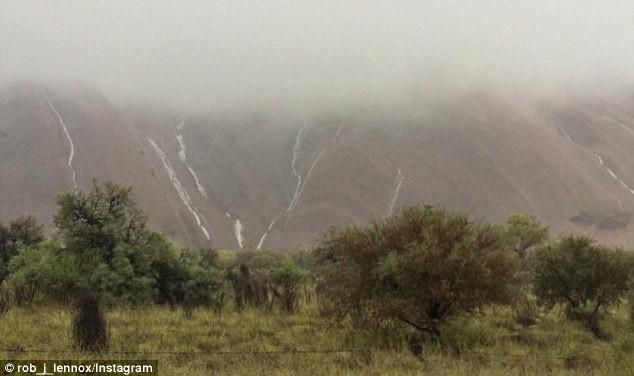 Mưa lớn tạo hàng trăm thác nước trên núi thiêng - ảnh 11