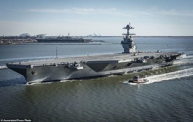 Tàu sân bay 13 tỷ USD của Mỹ lần đầu ra biển - ảnh 4