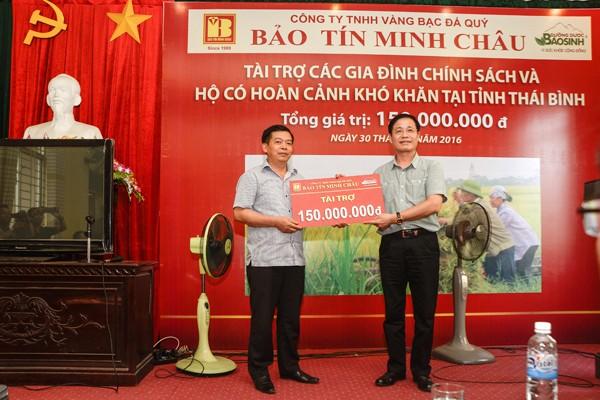 Bảo Tín Minh Châu trao từ thiện 150 triệu đồng tại Thái Thụy - Thái Bình - ảnh 1