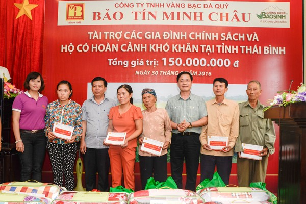 Bảo Tín Minh Châu trao từ thiện 150 triệu đồng tại Thái Thụy - Thái Bình - ảnh 4