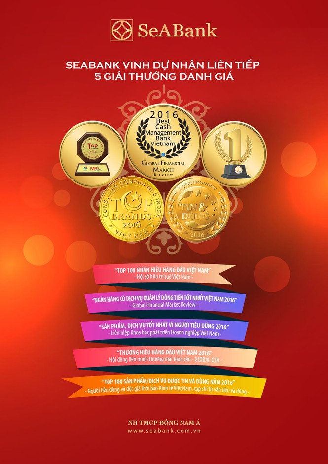 Seabank nhận nhiều giải thưởng trong tháng 11/2016  - ảnh 1
